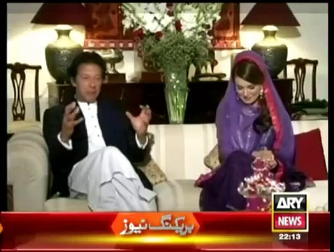 Imran Khan PTI and Reham Khan exclusive interview In – Khara Sach 9 January 2015