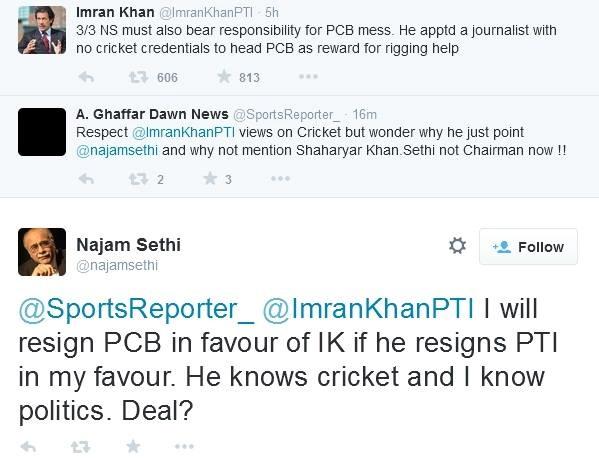 Imran Khan Najam Sethi