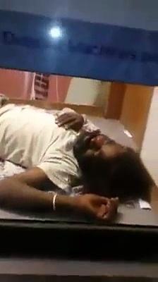 Man In Karachi Sleeping In ATM Due To Load Shedding
