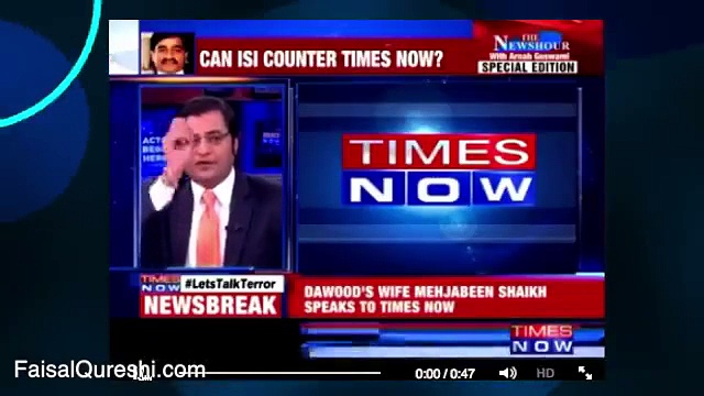 Dawood ibrahim in Karachi?? Faisal Qureshi Classic Chitrol Of Arnab Goswami The Famous Investigative Journalist of India