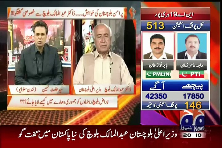 Naya Pakistan Talat Hussain Kay Sath – 16th August 2015