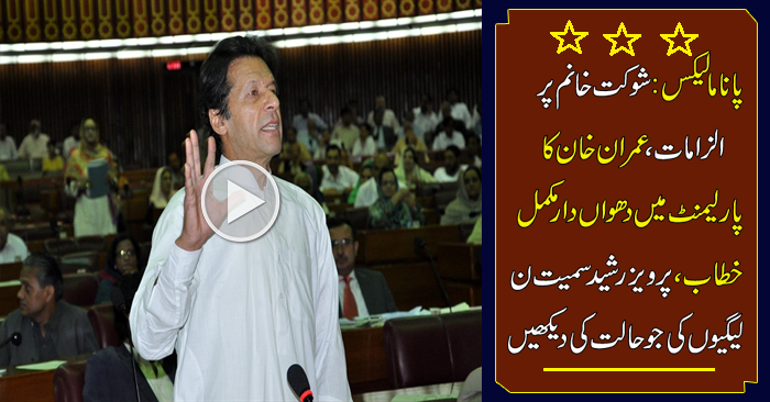 Imran Khan Blasted In Parliament On Prime Minister Nawaz Sharif Over Panama Leaks