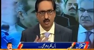 Javed Chaudhry Badly Criticizing Khawaja Saad Rafique For Defending Nawaz Sharif Family Instead Of Visiting Karachi