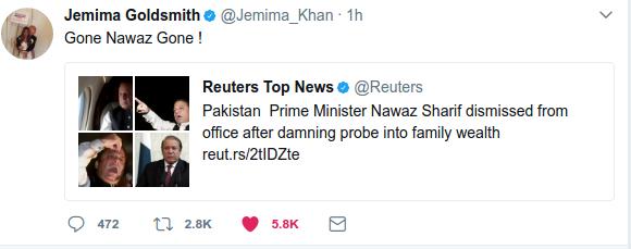 Jemima Khan, Gone Nawaz Gone